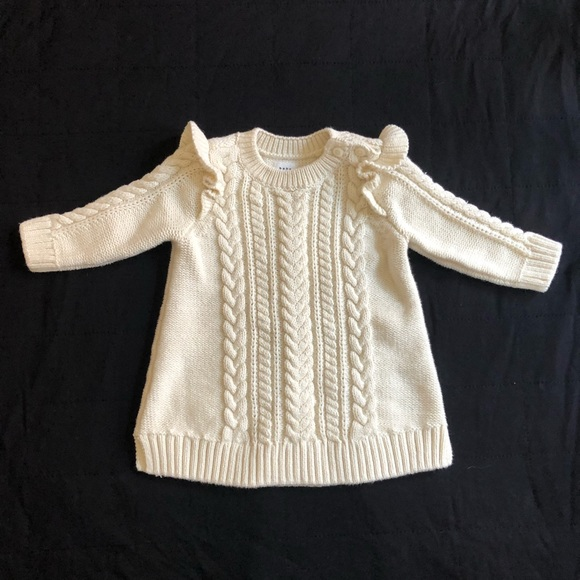 Gap cable knit sweater dress 0-3 M